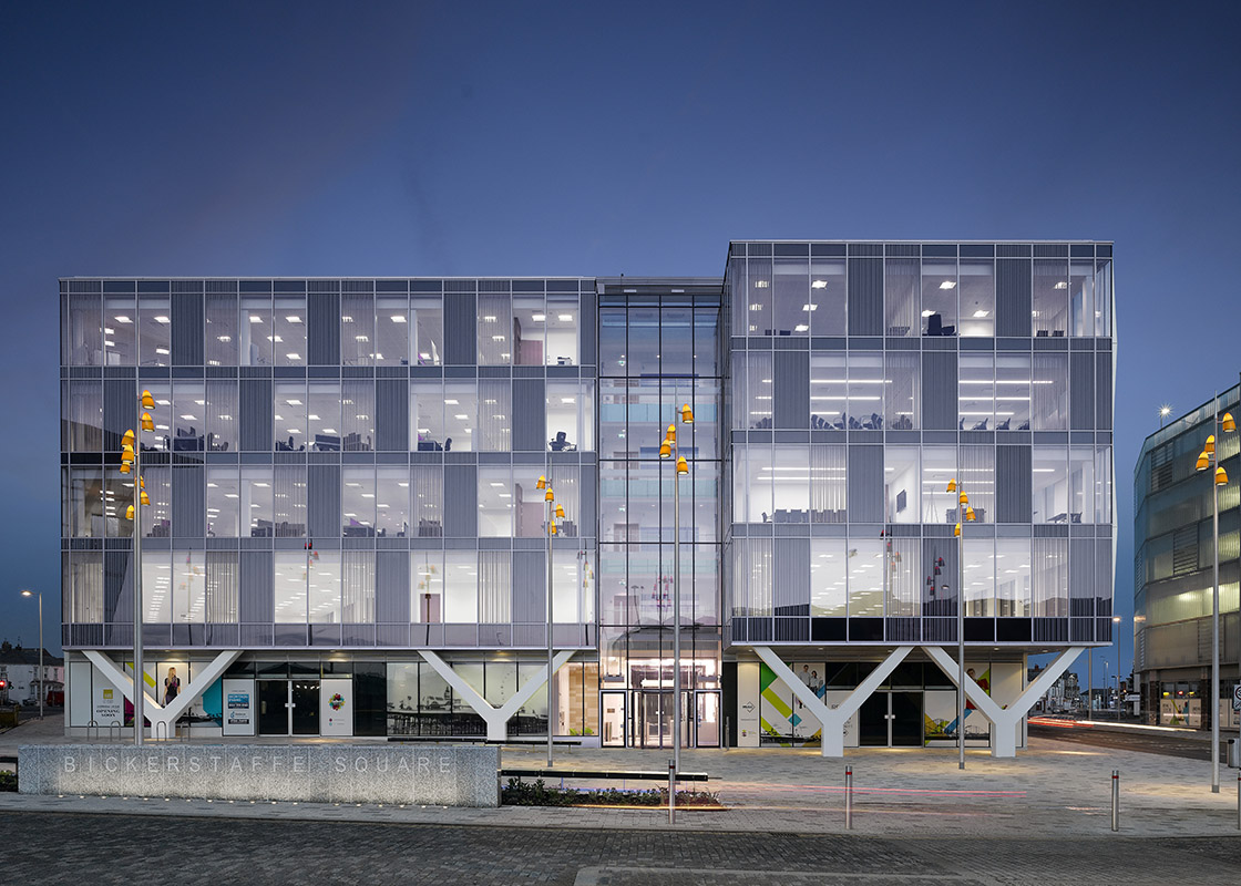 Talbot gateway blackpool council office workplace for Architects council of europe